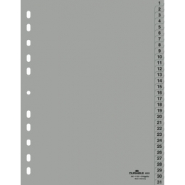 Vahelehed A4 1-31plastik