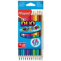 Värvipliiatsid ColorPeps Duo 12tk=24 vär