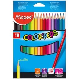 Värvipliiatsid ColorPeps 18 värvi