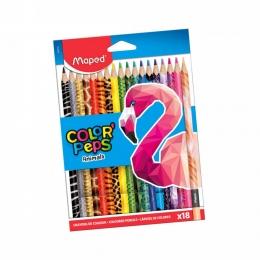 Värvipliiatsid ColorPeps Animals 18tk