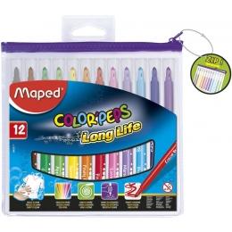 Viltpliiatsid ColorPeps 12 värvi pestav