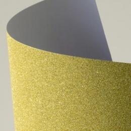 Glitterkartong A4/210g 5lehte kuldne
