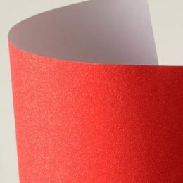 Glitterpaber A4/150g 10lehte liimuv punane
