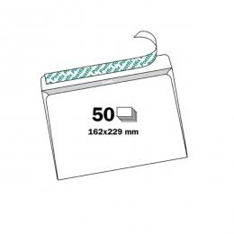 Ümbrik C5 aknata valge iseliimuv 50tk