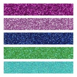 Glitterkartong A4/210g 5lehte seguvärvid
