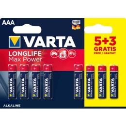 Patarei  AAA LR03 Varta MaxTech 5+3tk