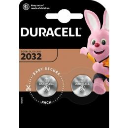 Patareid CR2032 3V Duracell 2tk/pakis