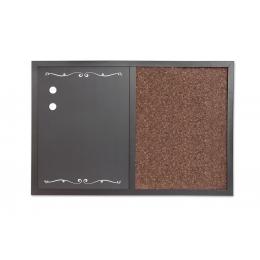 Tahvel kork + kriidi (2IN1) 60x40cm magn
