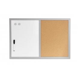 Tahvel valge + kork (2IN1) 60x40cm