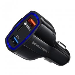 Autolaadija 2xUSB&USB-C QC3.0 Wozinsky