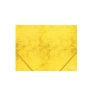 Kummiga mapp A4 4,5cm kartong kollane